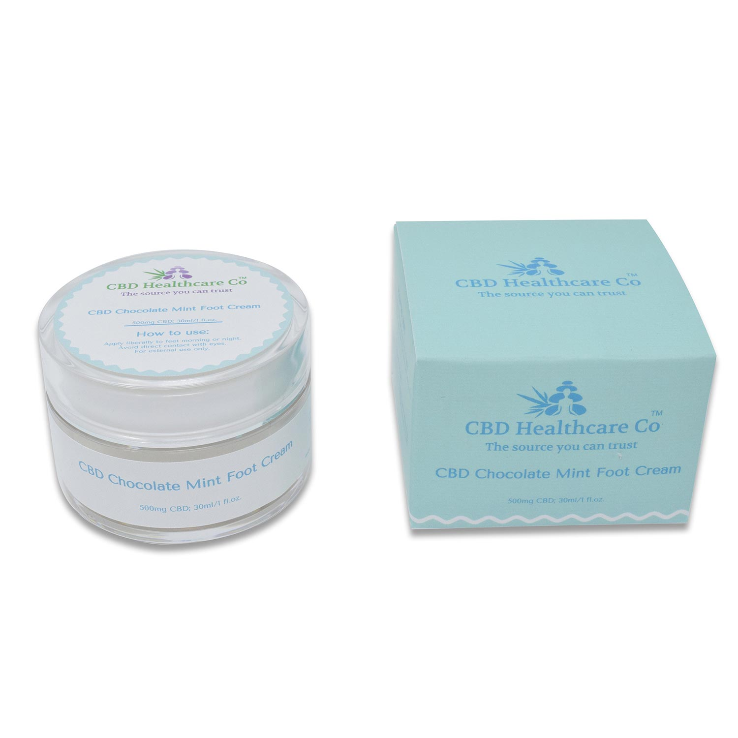 CBD Healthcare Company CBD Chocolate Mint Foot Cream