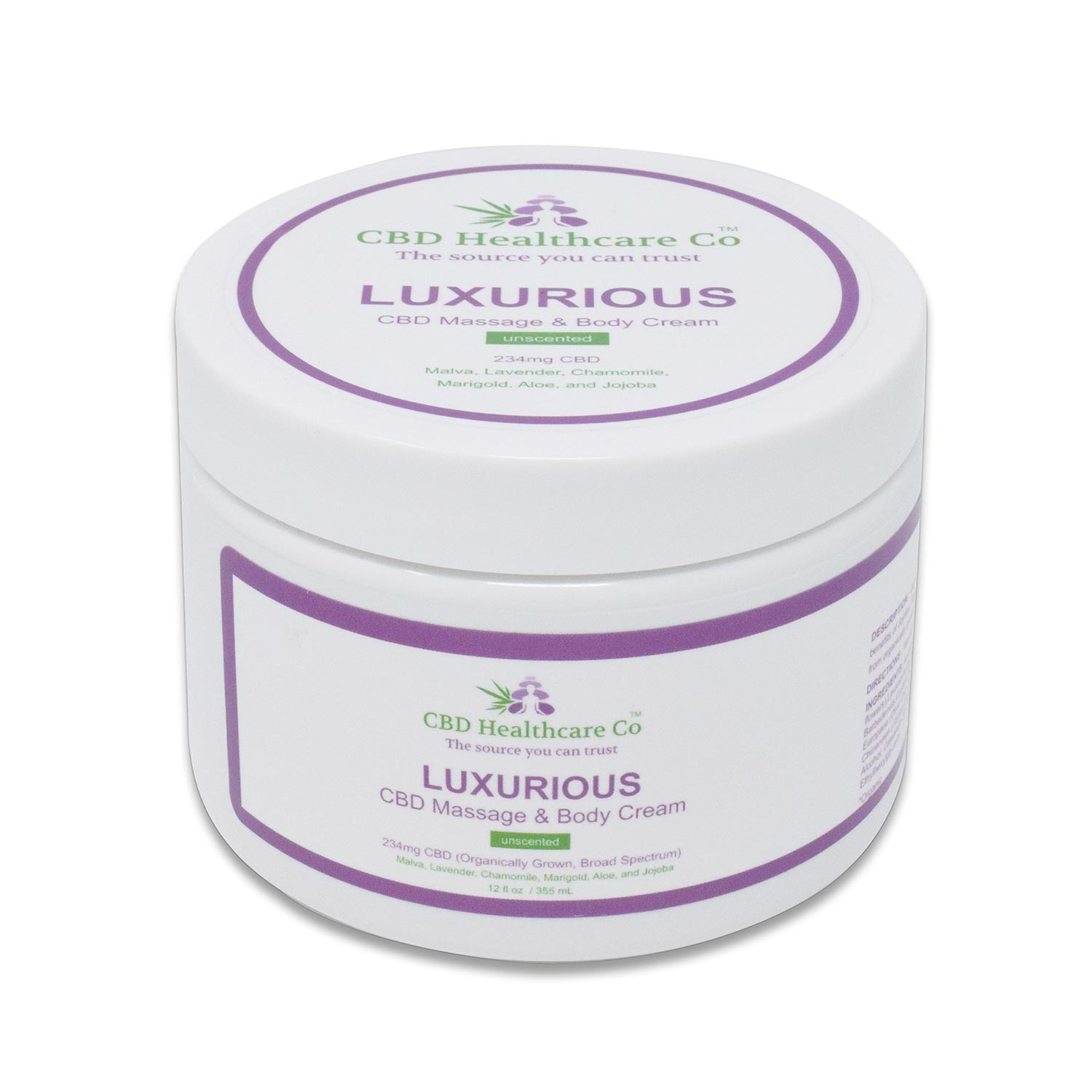 Luxurious CBD Massage & Body Cream